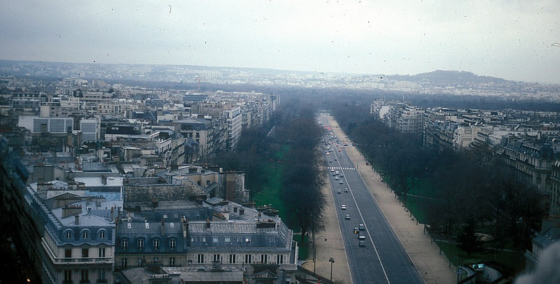 View from Arc de Triomphe - the Paris skyline through a panorama of over 200 degrees is unbroken by modern high rise architecture.