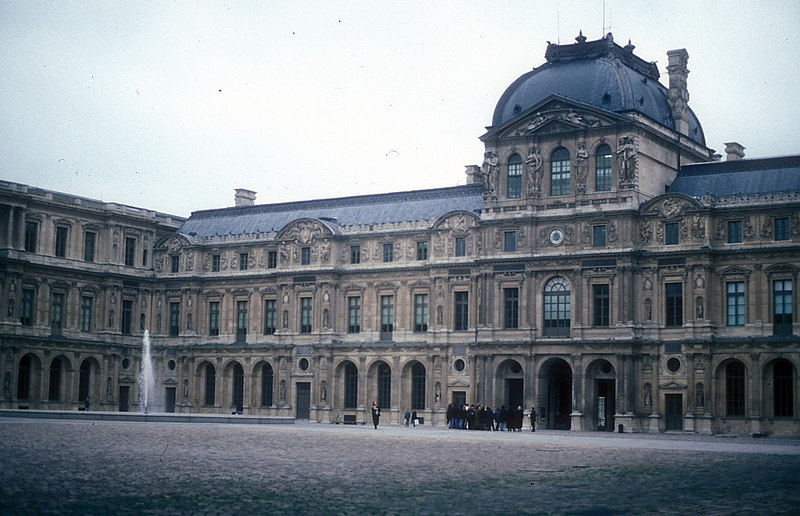 The Clock Pavilion of the Louvre from the Square Courtyard
