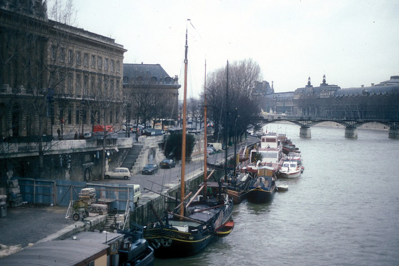 The Left Bank and the First Arrondissement from Ile de Cite at Pont Neuf