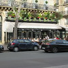 "Cafe de Flore on Blvd Saint Germain in Paris. Cafe Deux Magots is next block down same side of the street. Braserie Lipp is just across the street. Popular cafes for writers and artists of the ""Lost Generation""."