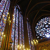 Sainte Chapelle is dominated by the stained glass windows and the rose