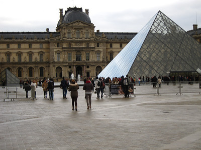 Main entrance to the Louvre