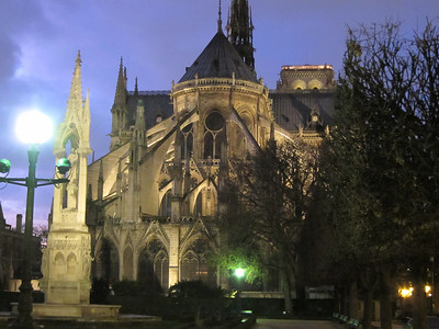 Outside the Notre Dame ambulatory
