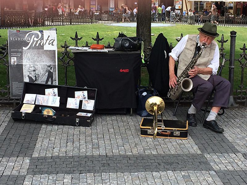 street musician, Prague