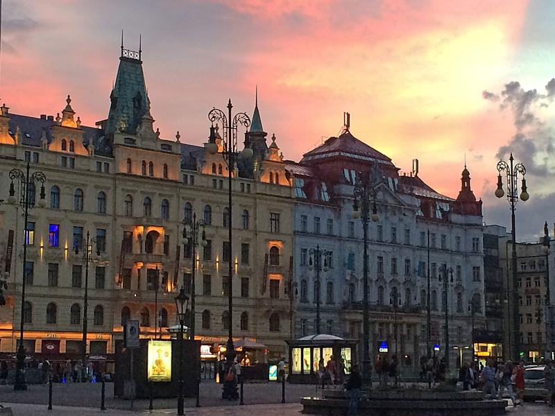 dusk, Old Prague