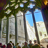 Pope's audience window; inside view