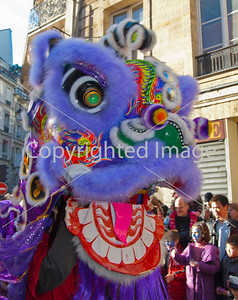 PS-48911 Paris, France, Chinese Celebrating Chinese New Year, Street Festival