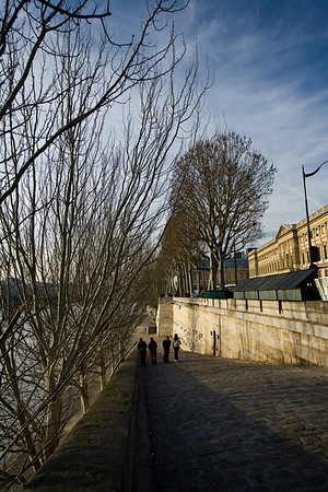 On the banks of the river Seine (Paris)