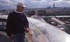 016  Paris - Dak Samaritaine, Ferrij bij tableau d'orientation en uitzicht op Tour Montparnasse
