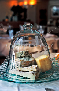 Paris, France ,Bistro Restaurant, Detail Fromage, L'Atelier Berger, Les Halles Area, 49, Rue Berger,  Bell Jar With Assorted French Cheese.