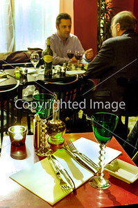 Paris, France, Businessmen Sharing Meals in French Regional Restaurant in the Marais, Table Setting.