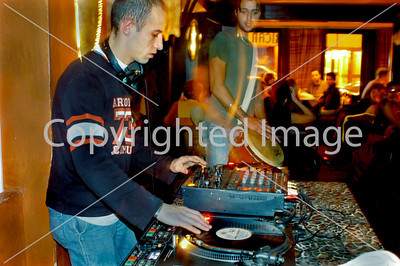 """PARIS - D.J. Spinning in African Theme Bar/Restaurant """"L'Impala Lounge"""" in Champs-Elysees Area."""
