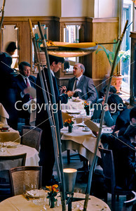 France, Paris, Business Persons Having Lunch in Elegant, Contemporary Restaurant Maceo, 15, Rue des Petits-Champs, 75001