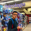 Paris, France, Portrait,  Chinese Man, Xingwei,  Shopping in Carrefour Supermarket, Hardwares Section