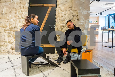 Paris, France, Chinese People Shopping, inside Luxury Men's Shoes Store, Westin Brand