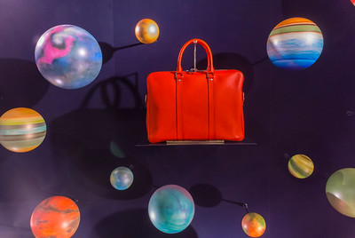 Paris, France, LVMH, Louis Vuitton Store, Fashion WIndow Display, Printemps Department Store,
