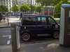 Paris, France, Electric Car charging Plug in on Street