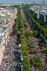 Paris, France, Aerial View, Avenue  Champs-Elysees, Street Scenes