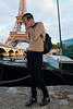 paris, France, Young Chinese Man, Portrait, Using I-Phone Telephone, near  Eiffel Tower, Seine River