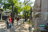 "Paris, France, Tourists Visiting French Cemetery, ""Pere Lachaise"""
