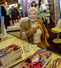 Paris France, Paris Book Fair, French Actress Author Signing Books, Line Renaud, V.P. Sidaction