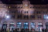 Paris, France, Outside Gare Saint Lazare Train Station, at Night