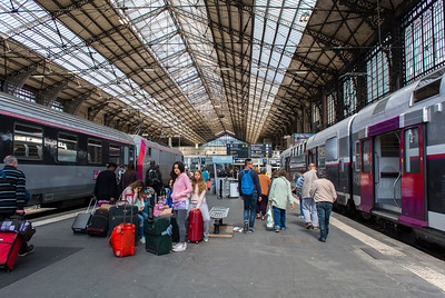 Paris, France, People traveling inside Gare d'Austerlitz Train Station, Suburb Trains