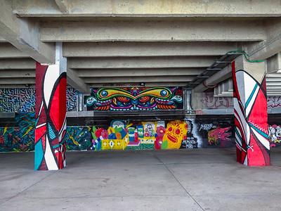 Paris, France. Street Art, Graffitti on Quay d' Austerlitz