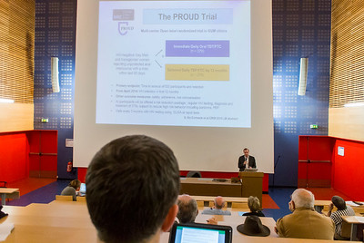 Paris, France. AIDS HIV Business Meeting, Dr. Jean-Michel Molina, Presenting latest findings from PrEP Prevention Clinical Trial, PROUD, at Pos-CROI, 7/4/2015