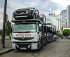 Paris, France, New French Cars Delivery on Truck on Street