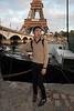 Paris, France, Young Chinese Man, Portrait, near  Eiffel Tower, Seine River