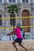 Paris, France, People Enjoying City Beach, Paris Plage, Beach Volleyball,