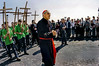 PARIS, France - Public Events, Catholic Church, Good Friday Ceremony, Le Chemin de la Croix, Easter Weekend, with Archbishop of Paris Mgr. Lustiger, in Montmartre, near Sacre Coeur Church, with French Boy Scout Troop.