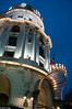Nice, France - Front Entrance, Luxury Hotel, Hotel Negresco, Lit up at Night, Promenade des Anglais