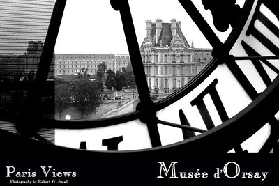 Artistic photo posters of various street views in Paris, France shot in June 2005.