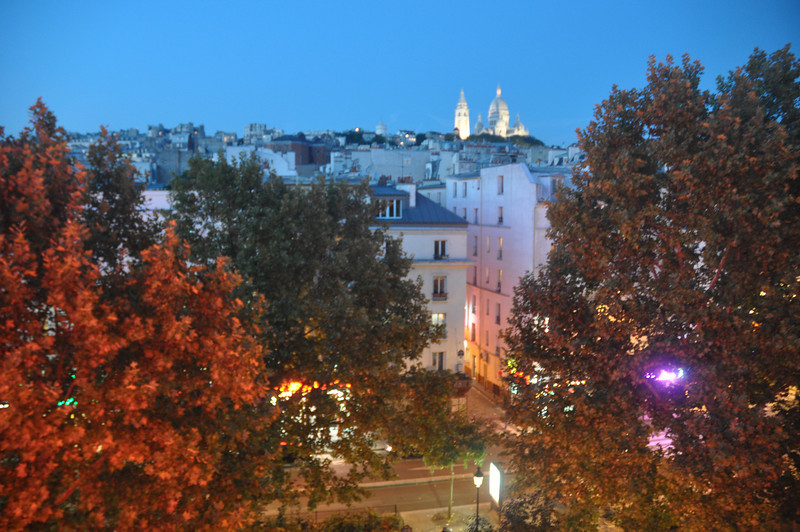 001  Paris - Sacre Coeur from hotel room by night