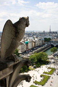 Gargoyles at the Notre Dame-1