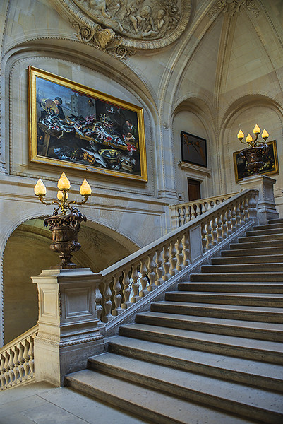 Staircase inside the Louvre