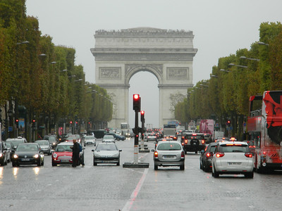 Arc de Triomphe from Champs Elysses.