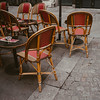 bistro tables and chairs in Paris