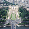 Seine, fountains and Palais Chaillot from atop the Eiffel Tower