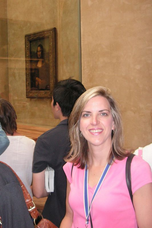 Elizabeth at the Mona Lisa