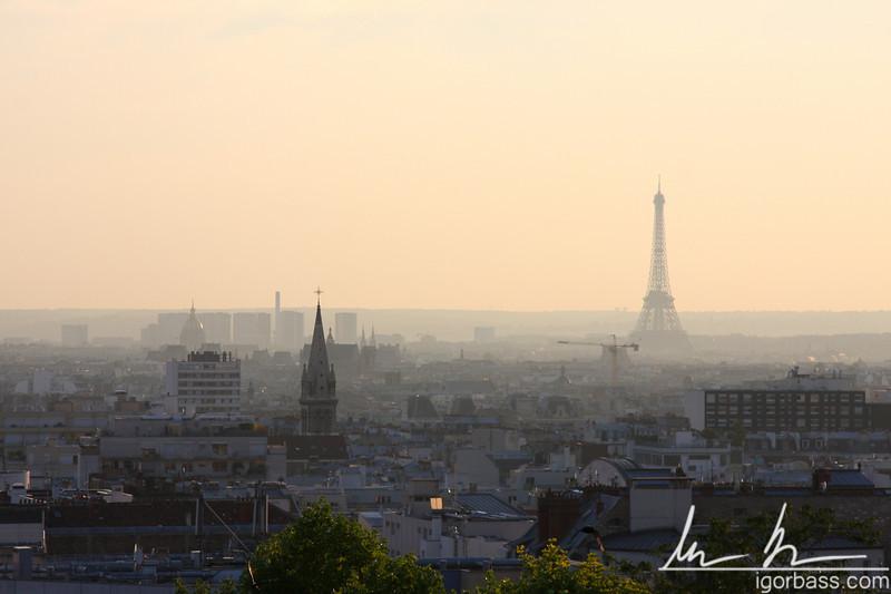 Paris from Belleville Park (Paris, FR)