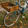 bicycle with wooden basket