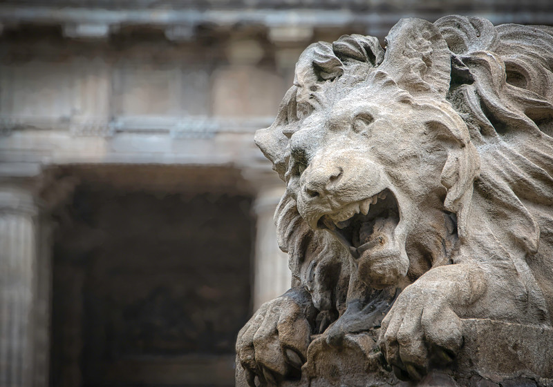 ~Lion Fountain~<br /> St Germain Church, Paris