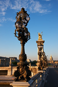 Lamp Posts of the Pont Alexandre III, my favorite of the many wonderful bridges in Paris.