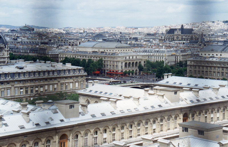 The Chatelet from atop Notre Dame