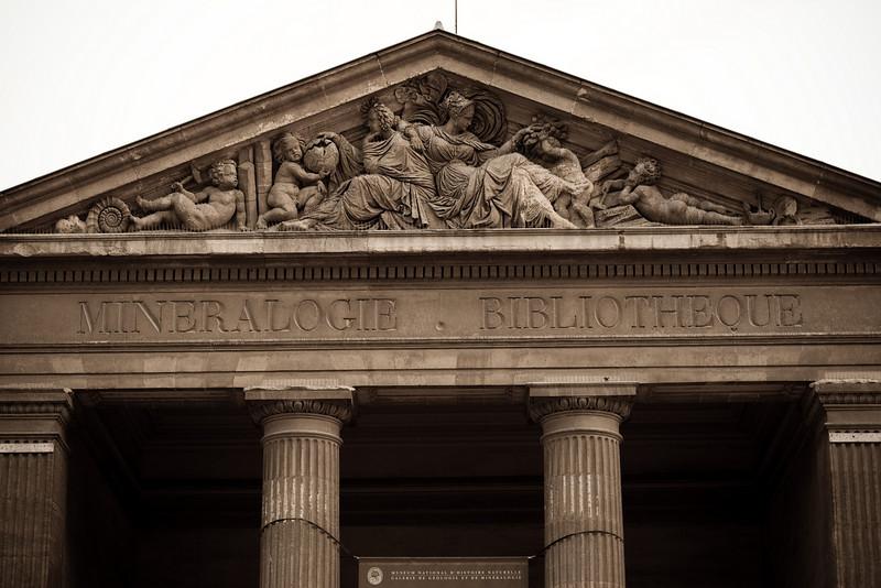 Galerie de minéralogie, Jardin des Plantes