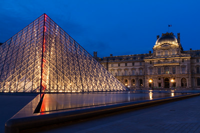 Blue Hour at the Louvre