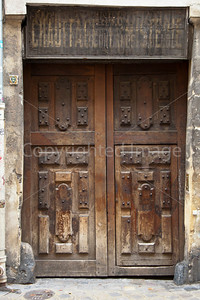 A doorway in the Marais